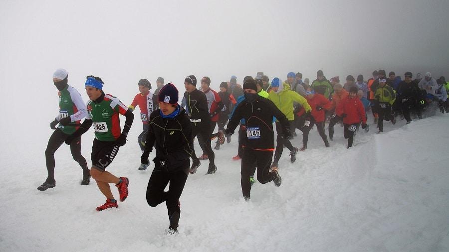 La competición de snowrunning del Trail Blanc ofrece ofrece dos recorridos, de 8 y 14.5 km, combinando tramos por las pistas de esquí nórdico y fuera de los trazados de Issarbe.(Copyright/Trail Issarbe)