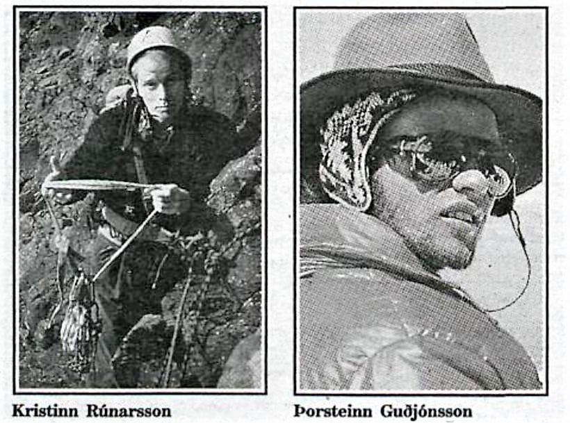 Kristinn Runarsson Thorsteinn Gudjonsson