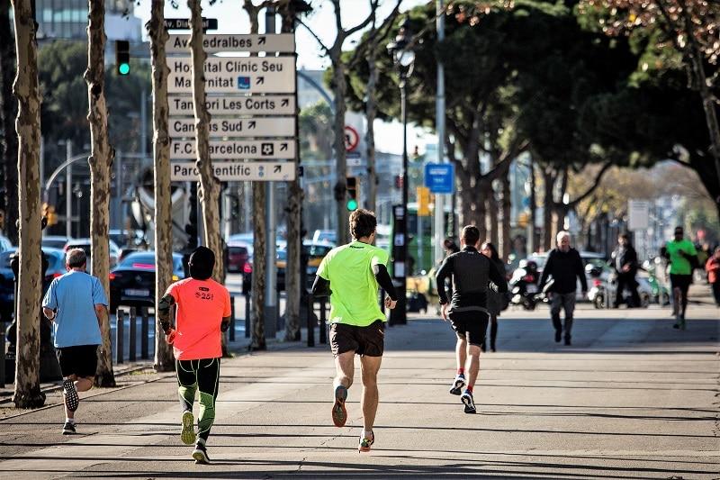 running Diagonal Barcelona
