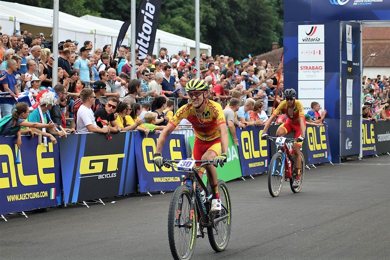 David Valero Pablo Rodrígez Europeo de bicicleta de montaña