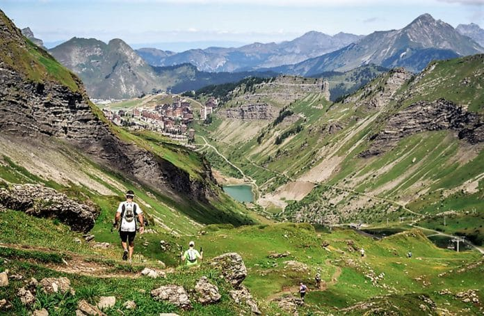 Ourea carrera de montaña en Avoriaz