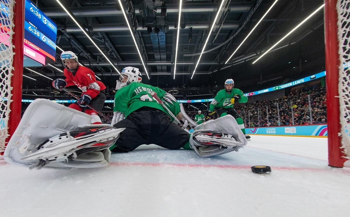 Eva Aizpurúa Pablo González hockey hielo Mixto 3 X 3 de los YOG 2020