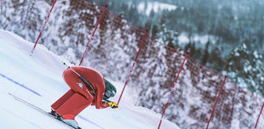 Simone Origone Brita Backlund Sella Ski Resort Copa del Mundo de esquí de velocidad