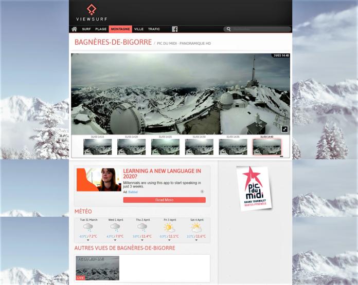Viewsurf app webcams destinos turismo Francia