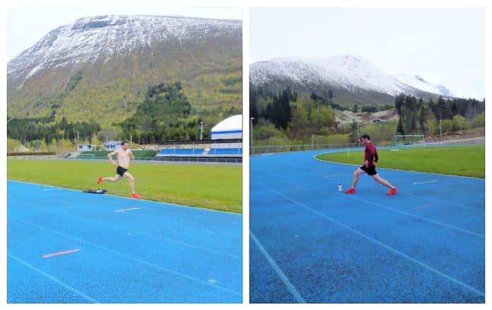 Kilian Jornet tartán pista atletismo