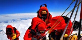 topógrafos chinos cima Everest