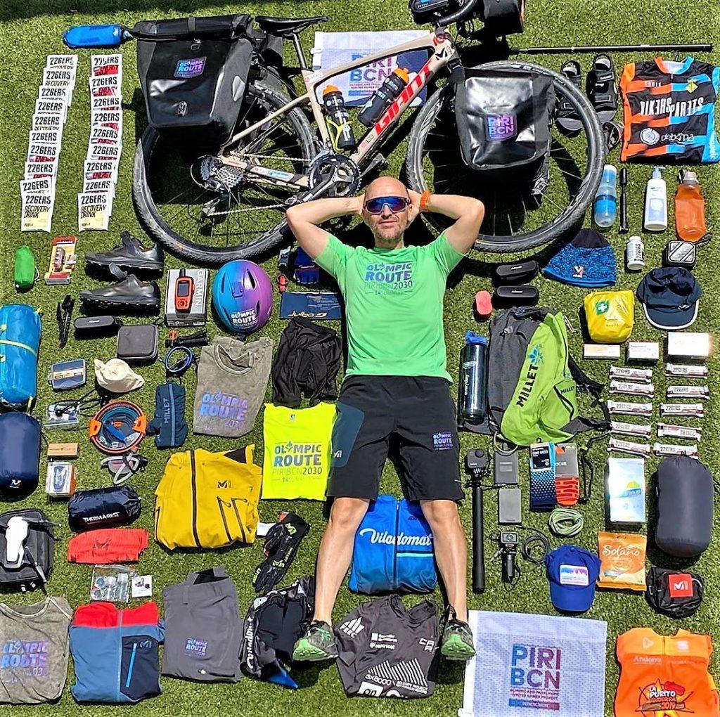 Sergi Mingote recorrido Olimpic Route bicicleta gravel