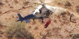 rescate en helicóptero vueltas