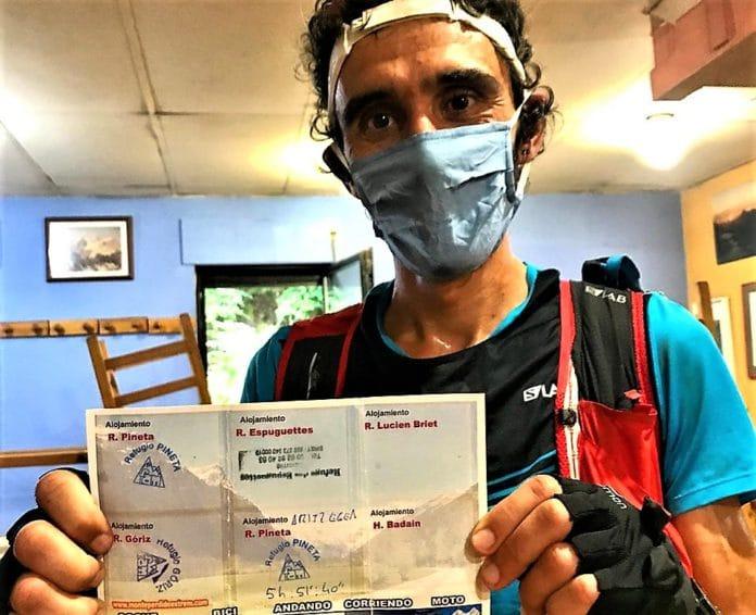 Aritz Egea récord FKT Monte Perdido Extrem MPE