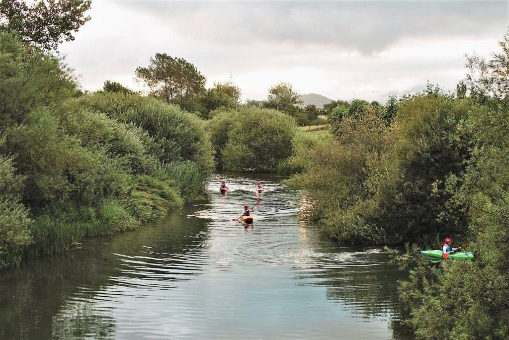 Bluebro descenso rio Ebro kayak
