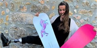 Astrid Fina retirada snowboarder