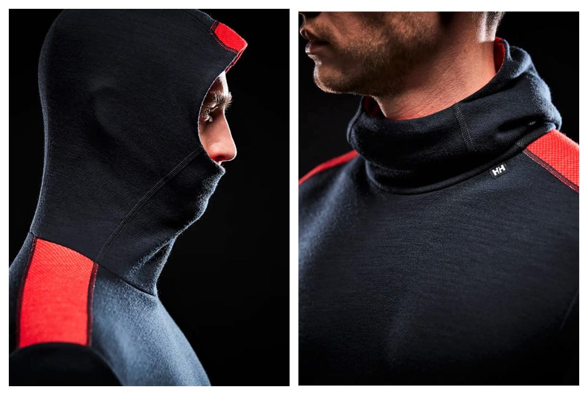 Helly Hansen camiseta térmica Merino Midweight Hoodie