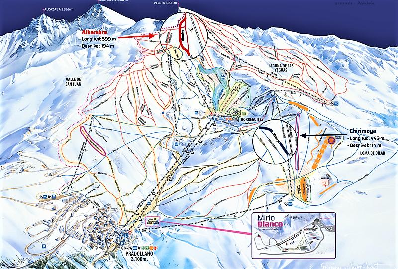 Sierra Nevada estación esquí