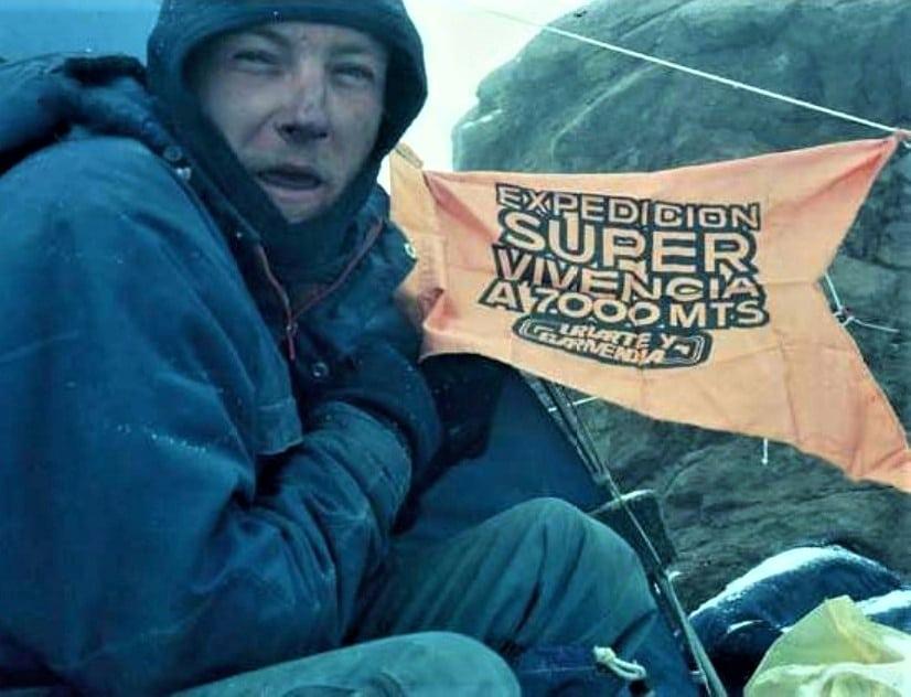 Fernando Garrido récord permanencia en altura Aconcagua