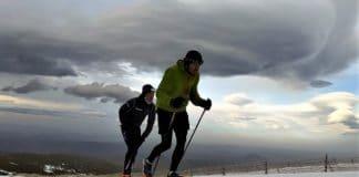 Julen Larrucea y Rebeca Mariño, Campeones de la Copa España de Snowrunning Covatilla