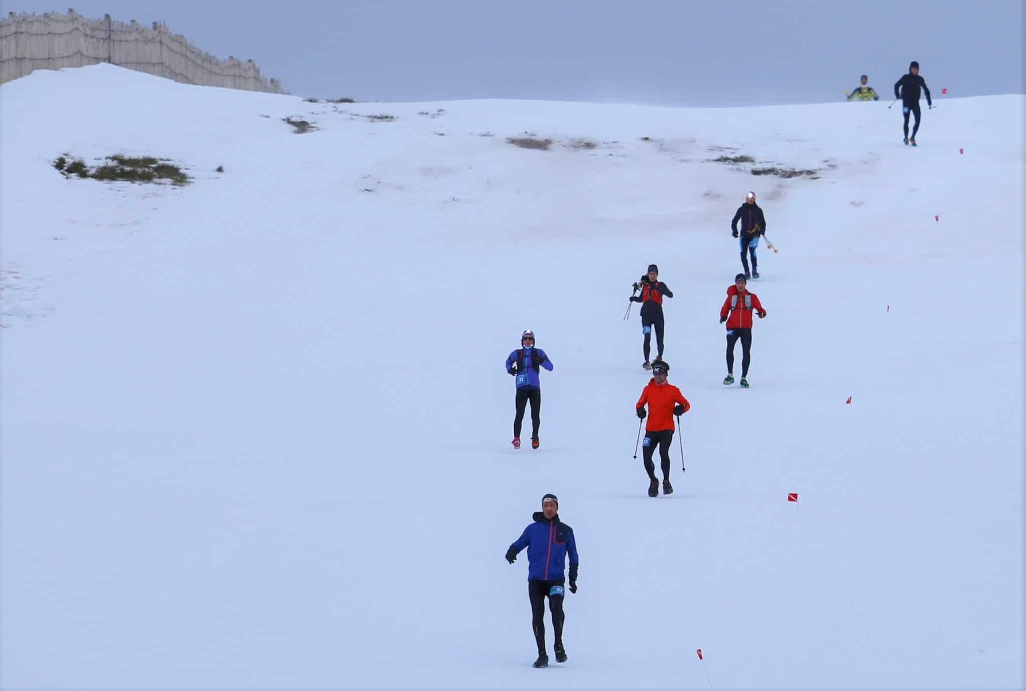 Julen Larrucea Rebeca Mariño Campeones de Copa España Snowrunning Covatilla