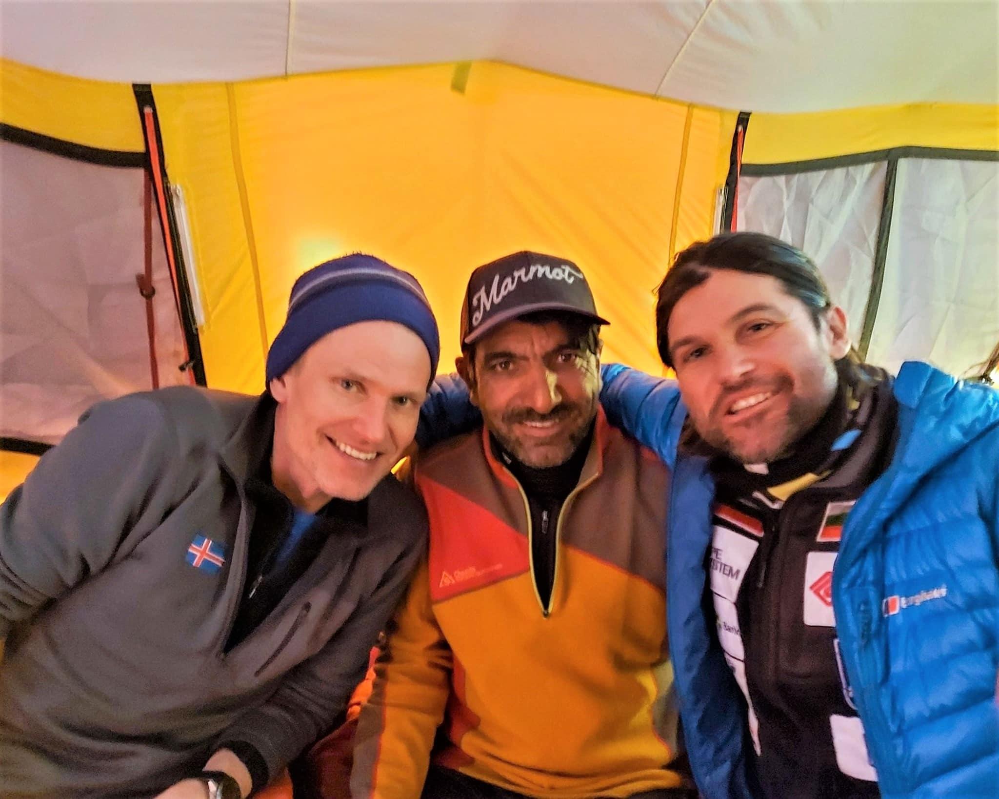 John Snorri, Ali Sadpara y Juan Pablo Mhor K2