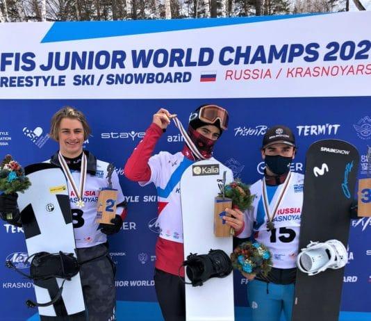 Álvaro Romero snowboardcross SBX Mundial Junior FIS de Krasnoyarsk Rusia