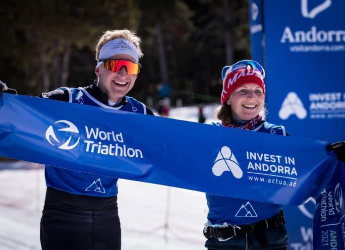 Relevos Mundial de invierno triatlón Andorra