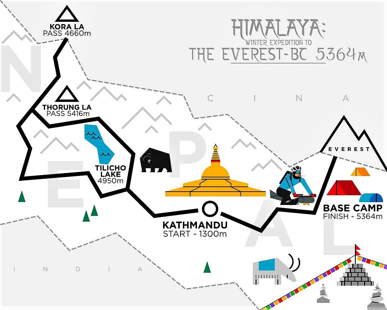 Omar di Felice ultraciclista Everest