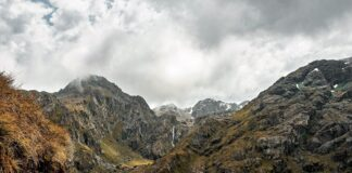 sendero de Routeburn Track Nueva Zelanda